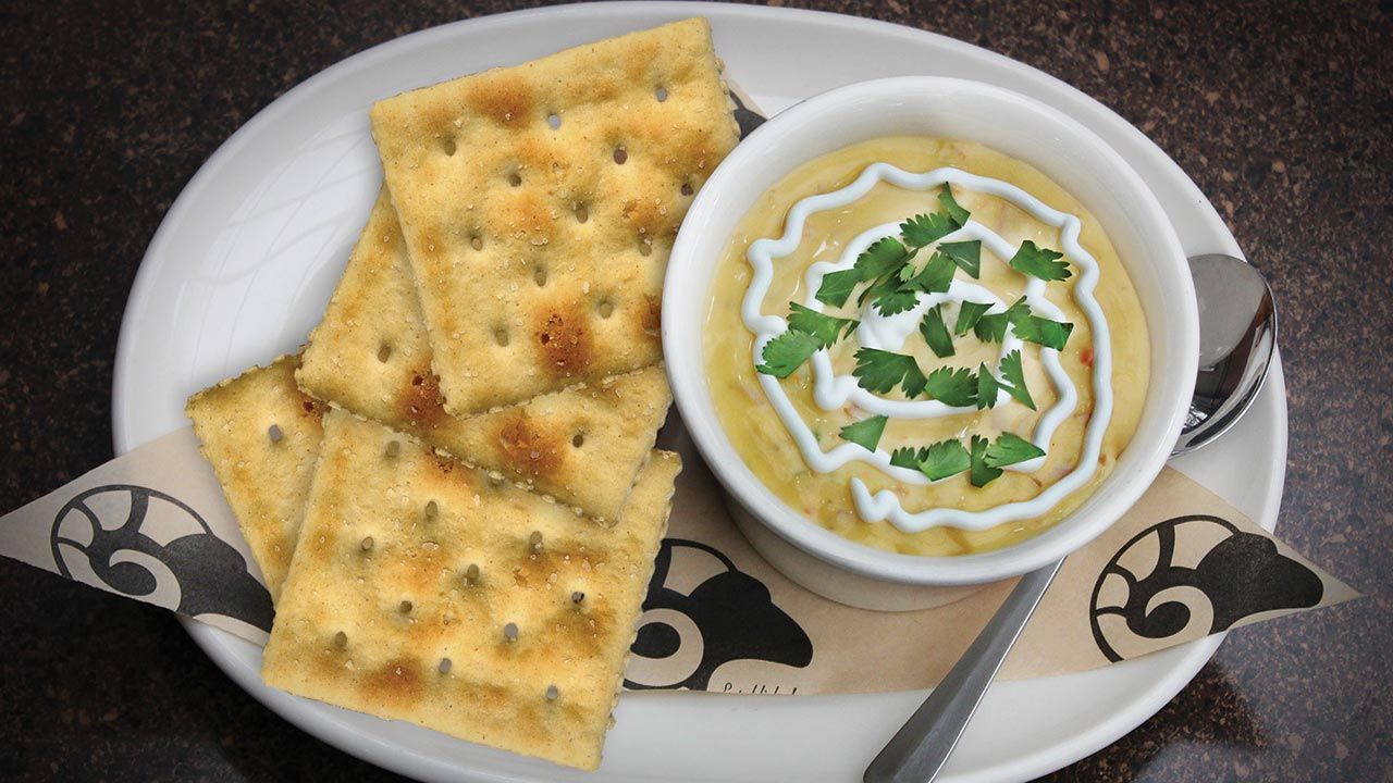 picture of beer cheese and ham soup