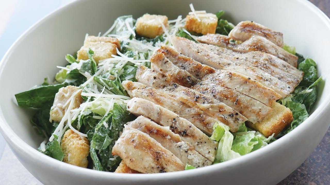 picture of chicken caesar salad