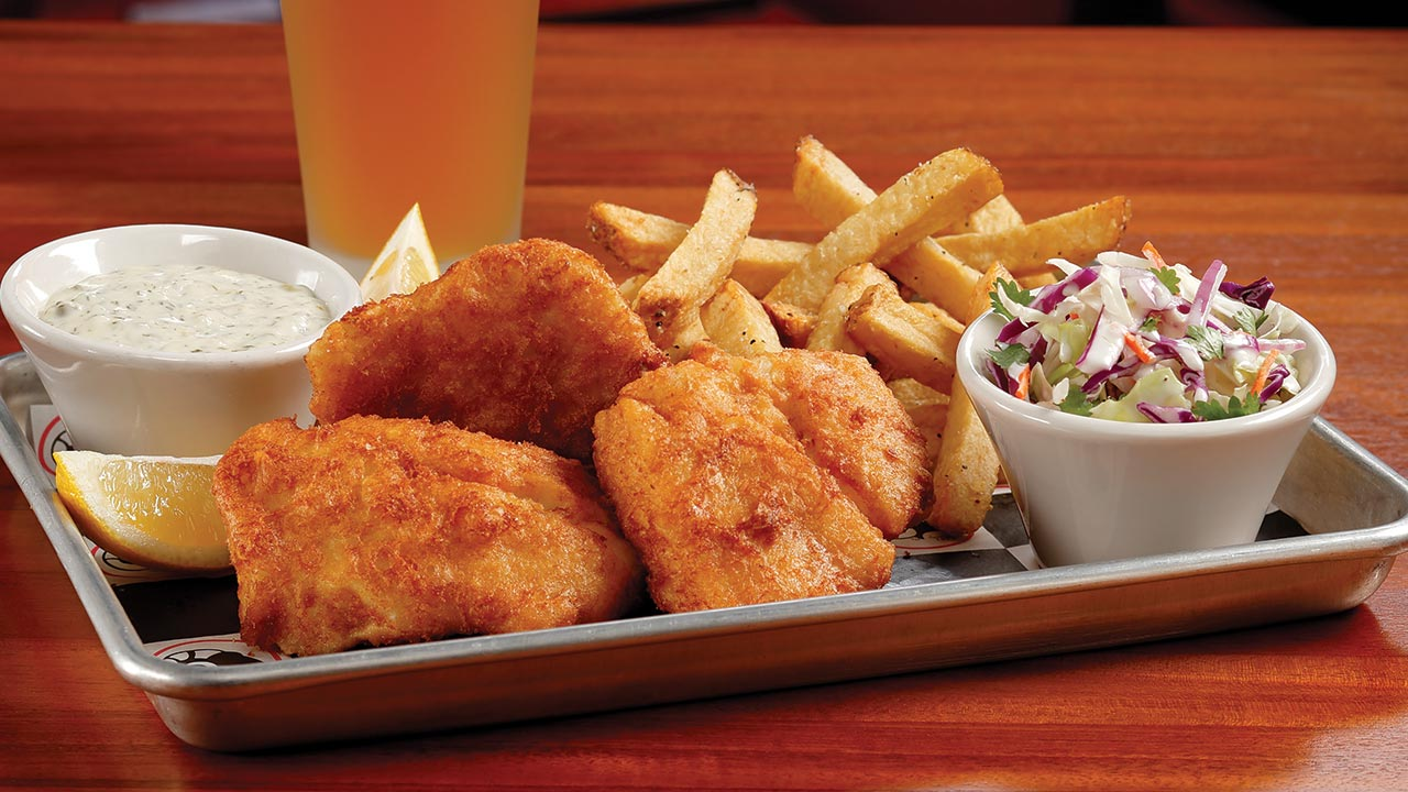 picture of beer battered fish and chips
