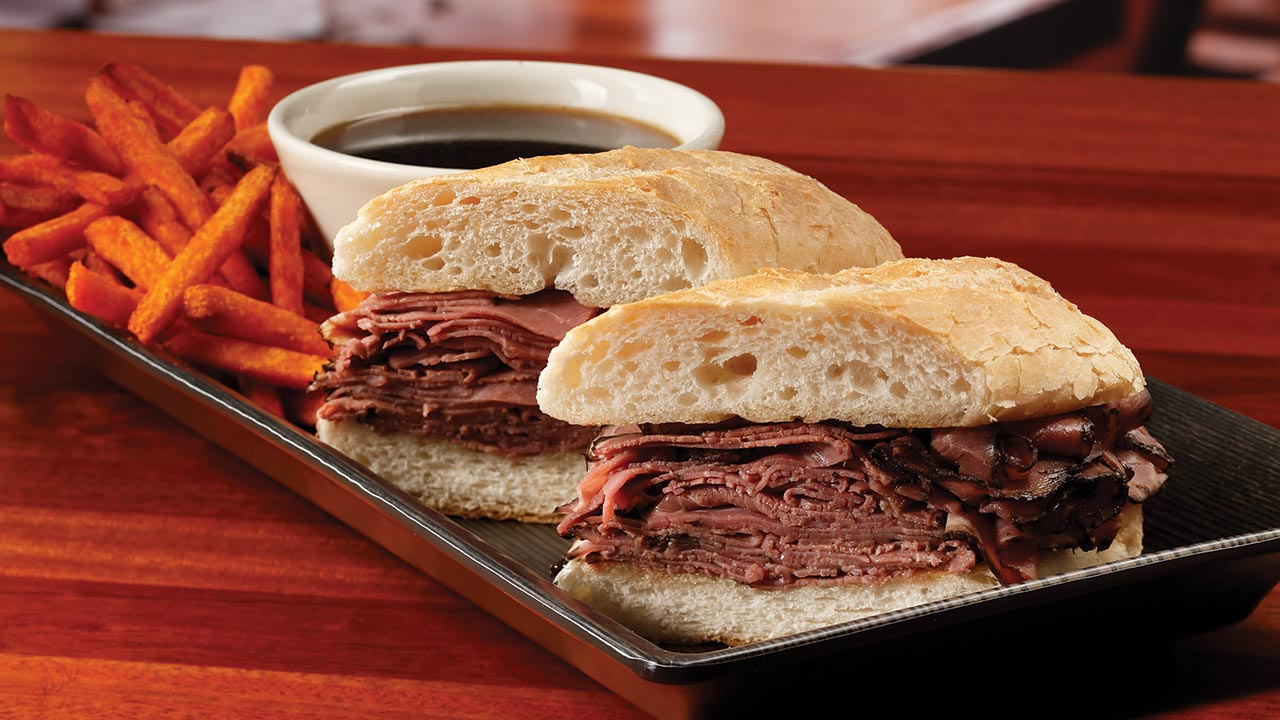 picture of french dip sandwich