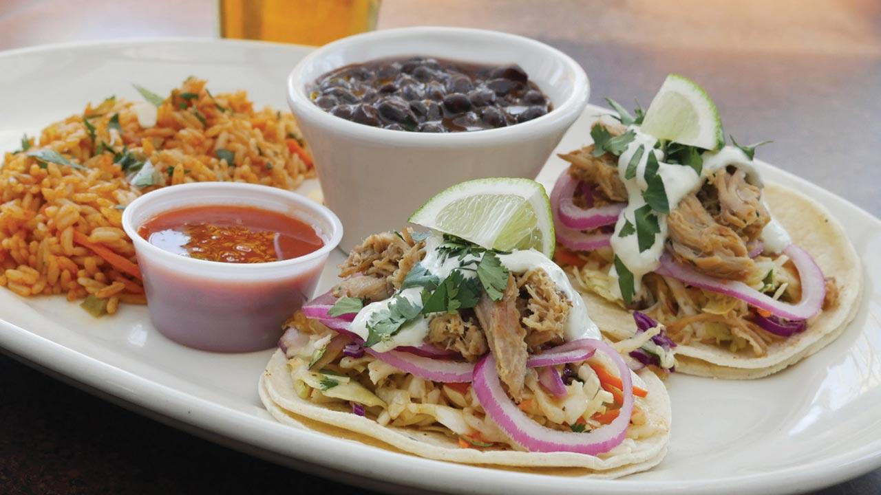 picture of pork carnitas tacos
