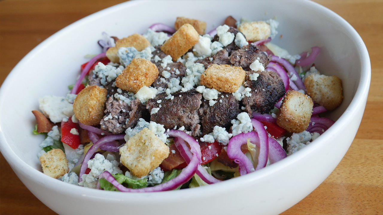 picture of wagyu burger salad